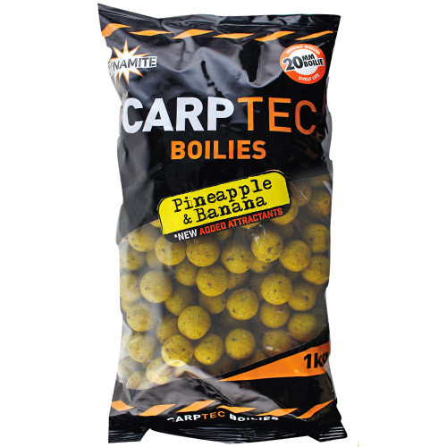 2 kg Dynamite Baits CarpTec Boilies (5 available flavours) - Pineapple & Banana