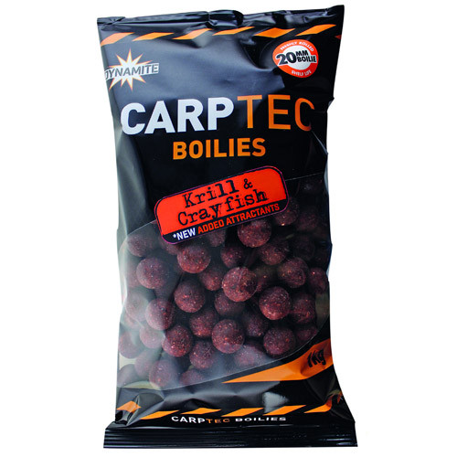 2 kg Dynamite Baits CarpTec Boilies (5 available flavours) - Krill & Crayfish