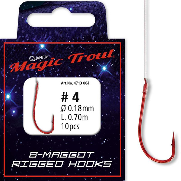 Quantum Magic Trout Maggot Rigged Hooks (6 options)