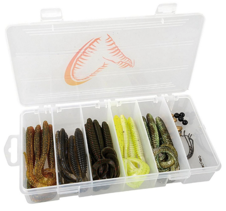 Savage Gear Rib Worm Kit, ready for a Carolina and Texas rig!