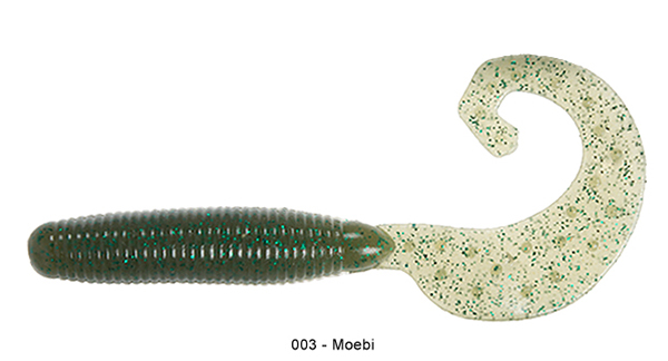 "Reins Fat G Tail Grub 4"", 10 pcs (8 available colours) - 003 Moebi:"