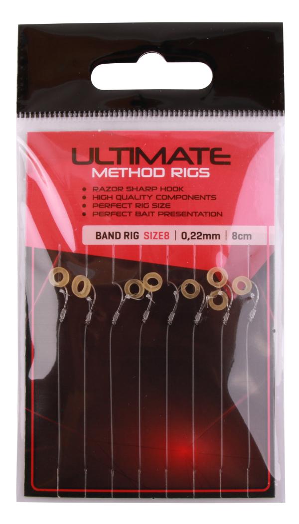 Ultimate Method Hair Baitband Rigs, 8 pcs (3 options)