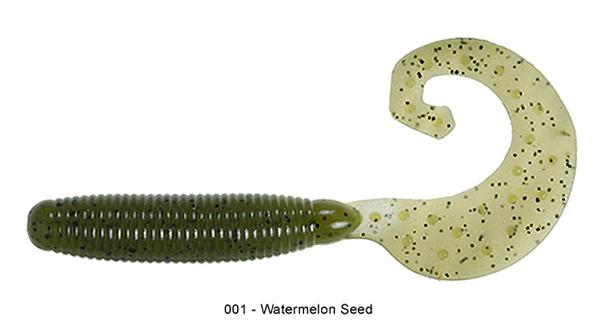"Reins Fat G Tail Grub 4"", 10 pcs (8 available colours) - 001 Watermelon:"