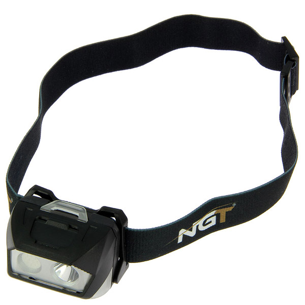 NGT Bivvy Light Large + NGT Dynamic Cree Headlamp - NGT Dynamic Cree Light - USB Rechargeable (200 Lumens)