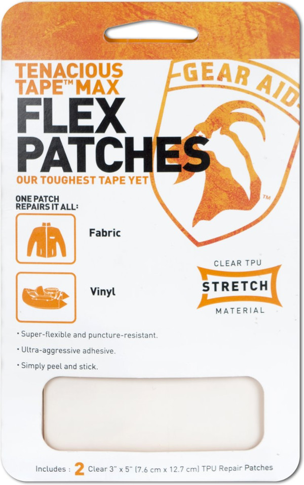 Gear Aid McNett Max Flex Patches, for repairing fabric and vinyl! (2 pcs)