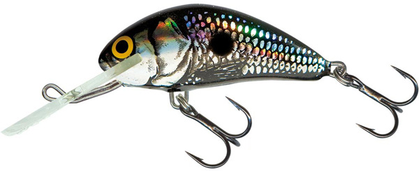 Salmo Hornet 6 cm Floating (9 options) - Black Silver Shad (BSS)