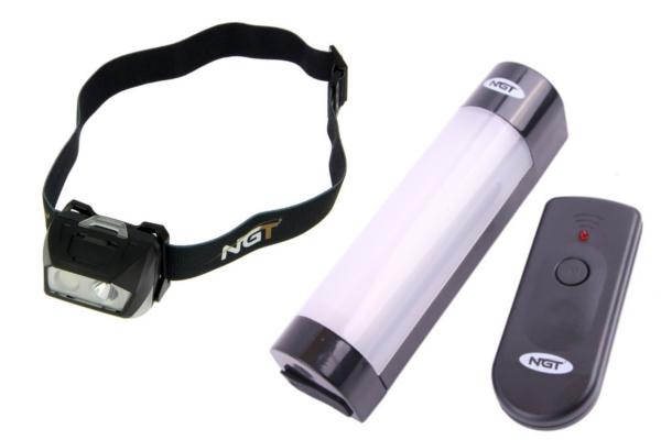 NGT Bivvy Light Large + NGT Dynamic Cree Headlamp