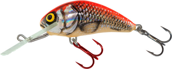 Salmo Hornet 5 cm, USA colors! (23 options) - Silver Red Orange