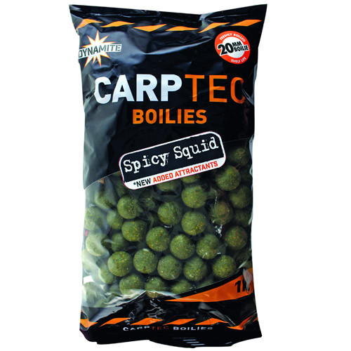 2 kg Dynamite Baits CarpTec Boilies (5 available flavours) - Spicy Squid