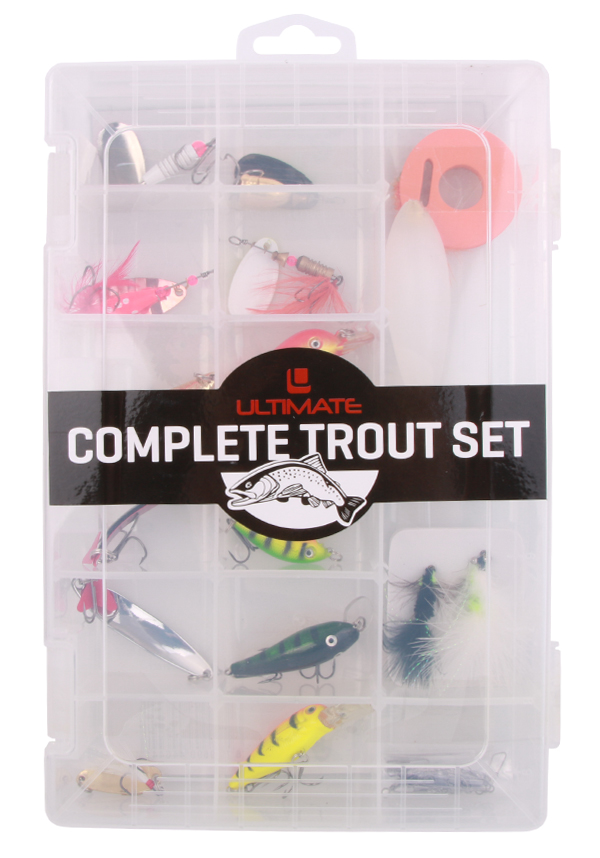 Ultimate Trout Set with spinners, streamers, spoons and more!