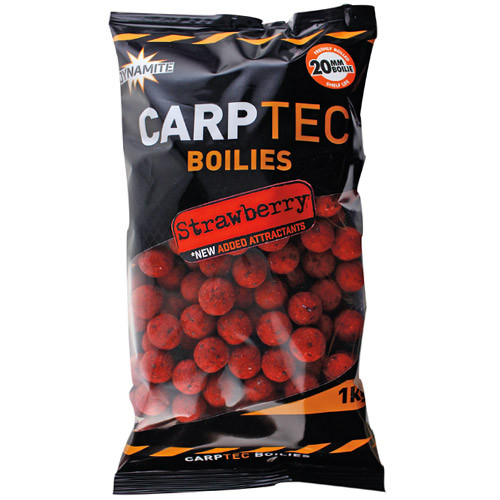 1 kg Dynamite Baits CarpTec Boilies (7 available flavours) - Strawberry