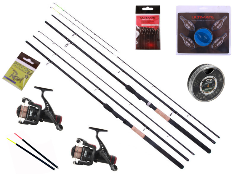 Feeder & Match Set with two rods, two reels and accessories!