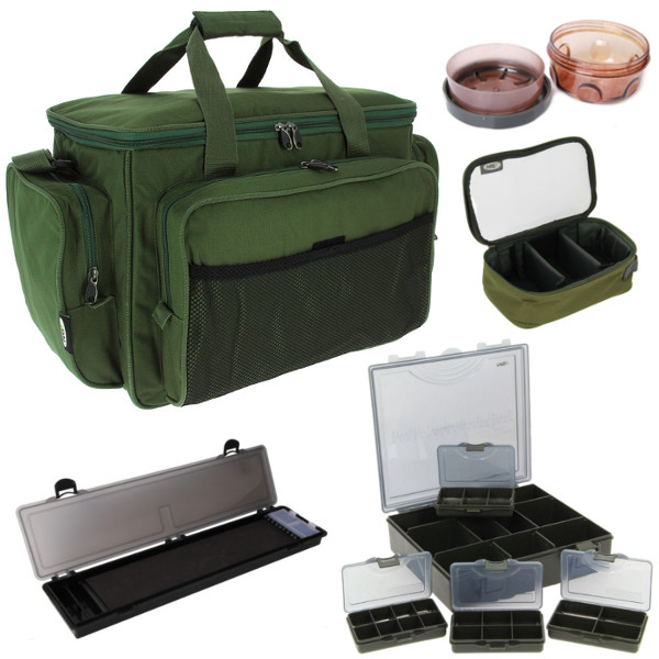Carp Carryall Kit with Tackle Box, Dip Pots, Bit Boxes, Lead Bag and more!