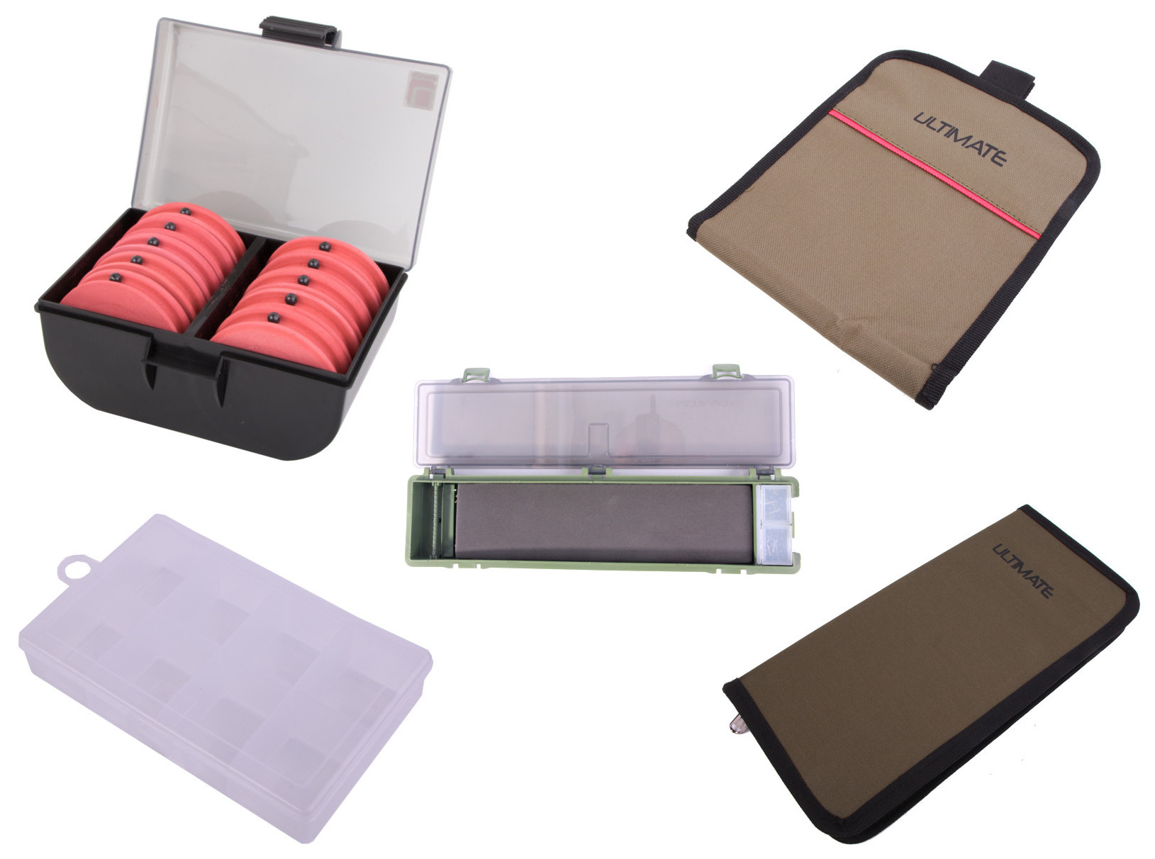 Complete storage set for all of your rigs, small tackle items and end tackle