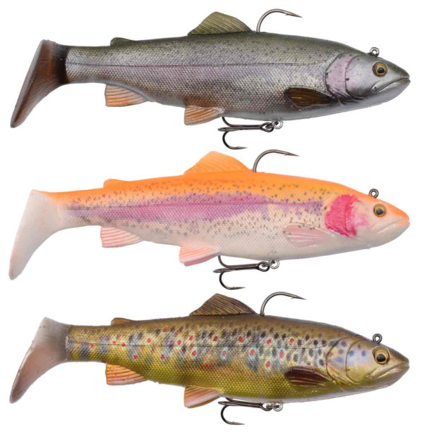 Savage Gear 4D Rattle Trout 12.5 cm 35 g MS + Salmo Lure Surprise (3 options) - Vbnb: Rainbow, Golden Albino, Dark Brown Trout