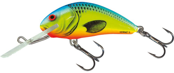 Salmo Hornet 5 cm Floating (5 options) - Chartreuse Blue (CHB)