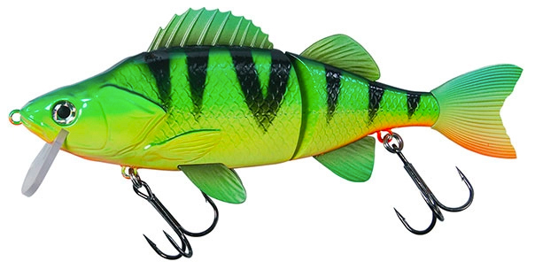Big Pike Lure Pack - Effzett Slide'N Roll Perch, Firetiger