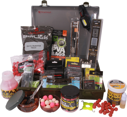 Adventure Carp Box, packed with end-tackle from well-known brands!