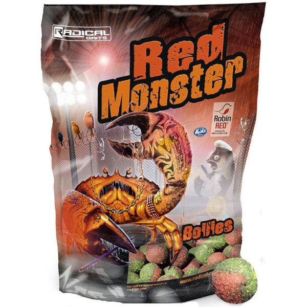Radical Red Monster Boilies 24 mm - Red Monster