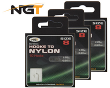Image of 60 NGT Barbless Coarse Fishing Hooks to Nylon (6 options)