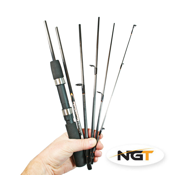 NGT Travelmaster 6-piece, lightweight travel rod