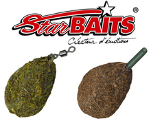 Image of 10 x Starbaits Flat Pear Lead, available in Swivel or Inline model (19 options)