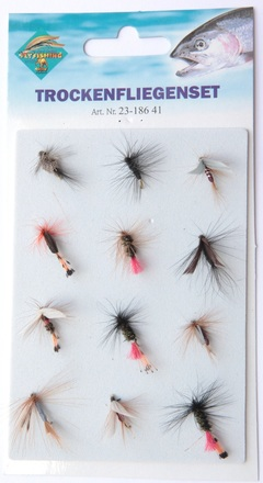 Behr Dry flies on card, 12 pcs!