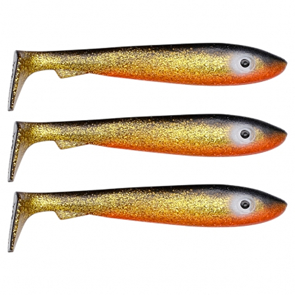 Svartzonker McRubber Big Bass 12.5 cm, 3 pcs! - C2 Golden Shiner