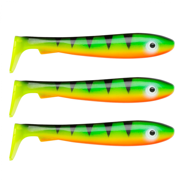 Svartzonker McRubber Big Bass 12.5 cm, 3 pcs! - C3 Fire Tiger