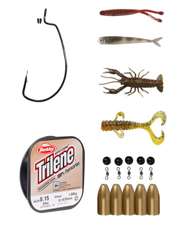 SUPERDEAL! Carolina Kit with Savage Gear bullet weights, Gamakatsu worm hooks and lures!
