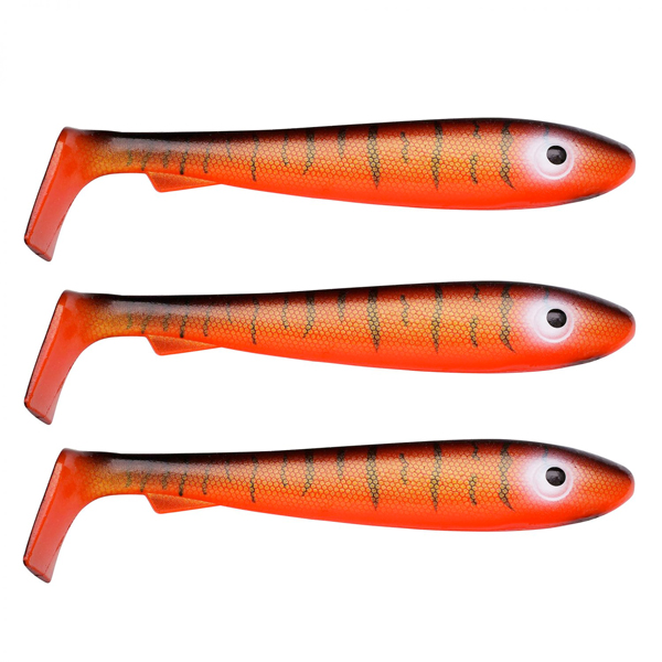 Svartzonker McRubber Big Bass 12.5 cm, 3 pcs! - C4 Red Tiger