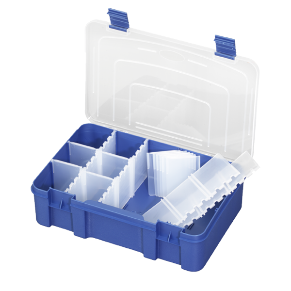 Panaro Tackle Box Blue with Transparent Lid (3 options)