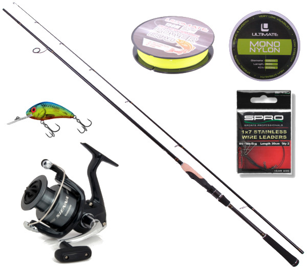 Deluxe Spin Set with Ultimate Spin & Jig rod, Shimano reel and more! (3 options)