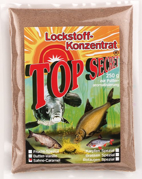 Top Secret Groundbait Concentrate 250 g (9 options) - Top Secret Concentrated Attractant 250g - Cream Caramel: