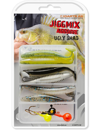 Darts Jiggmix Ugly Shad with soft baits and jigheads!