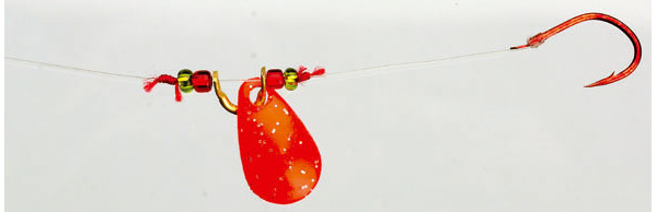 4 pcs Iron Trout Spin Rig - Red