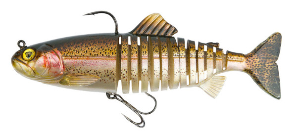 Fox Rage Replicant Super Natural Trout Jointed & Wobble - Jointed Rainbow Trout: