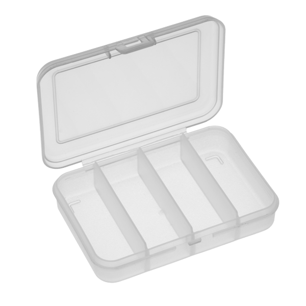 Panaro 102 Tackle Box 91x66x21mm (1, 4 or 6 compartments) - 4 Compartments