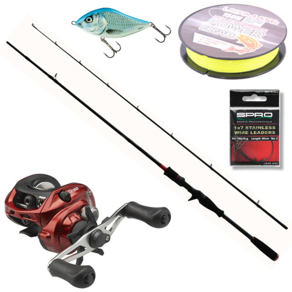 Baitcasting Set with Effzett 1.98 m rod, Quick reel and more!