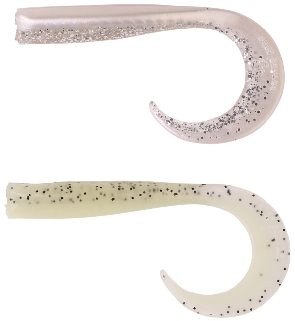 Savage Gear Sandeel Curltails (12 options) - Top: Pearlsilver