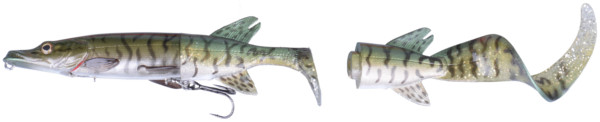 Savage Gear 3D Hybrid Pike 17 & 25 cm (8 options) - Green Silver Pike