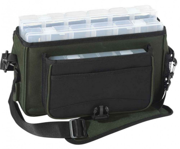 Iron Claw Plain Bag II including 3 Tackle Boxes