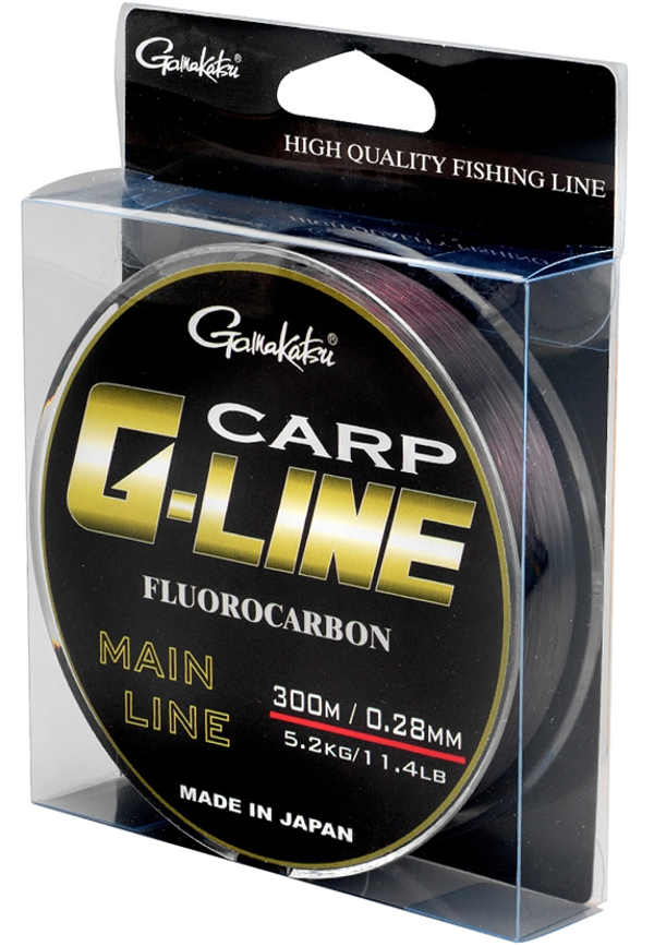 Gamakatsu G-Line Carp Fluorocarbon Dark Brown 300 m (4 options)