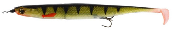 Westin KickTeez Shadtail 15 cm Rigged, 2 pcs - Striped Perch