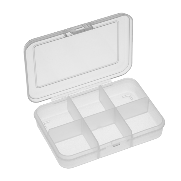 Panaro 102 Tackle Box 91x66x21mm (1, 4 or 6 compartments) - 6 Compartments