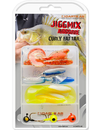 Darts Jiggmix Curly Fat Tail with soft baits and jigheads!