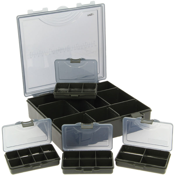 NGT Tackle Box System including Bit Boxes (2 options) - Model: NGT Tacklebox System 4 + 1