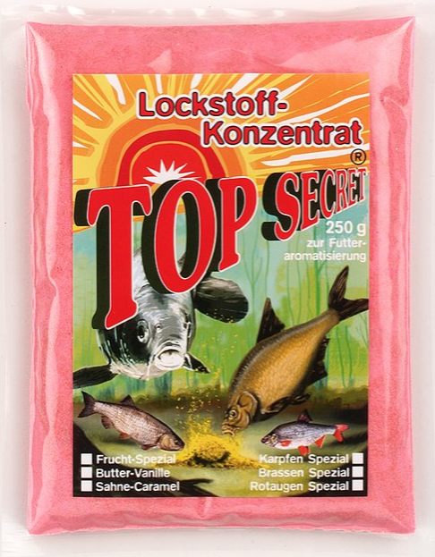 Top Secret Groundbait Concentrate 250 g (9 options) - Top Secret Concentrated Attractant 250g - Strawberry Special: