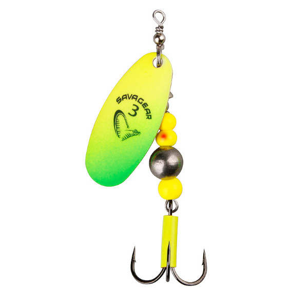 Savage Gear Caviar Spinner (5 options) - Fluo Yellow - Chartreuse