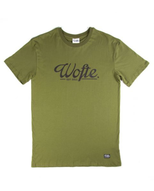 Wofte Est.11 T-Shirt - Light Olive: